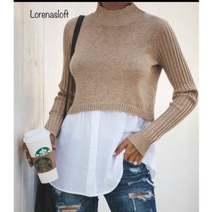 Sweater With Bottom Blouse Combo